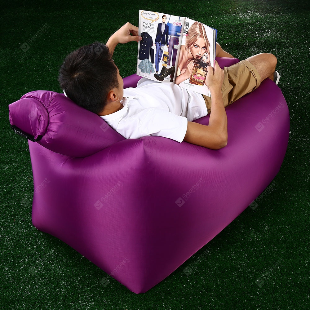 Surprising Ultralight Inflatable Lazy Sofa With Pillow Beach Chair For Leisure Activities Pabps2019 Chair Design Images Pabps2019Com