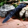 Jun Lang 16010B Cuchillo Plegable - NEGRO