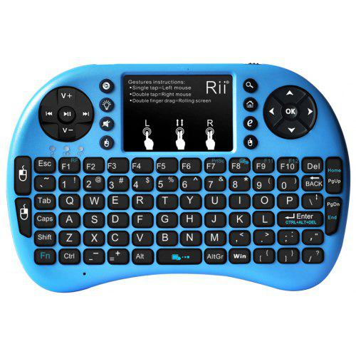 66664257230 Rii i8+ Multi-function Mini 2.4GHz Wireless Touchpad Keyboard with Built-in  Battery for HTPC   Gearbest