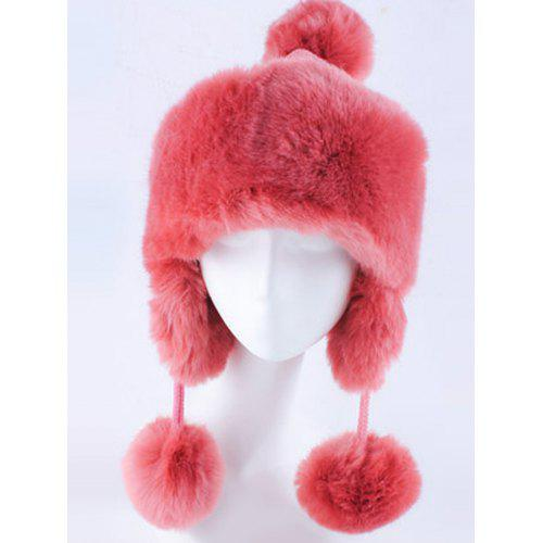 385a28a99d5 Women Winter Knitted Hat with Faux Fur Trim -  20.57 Free Shipping ...