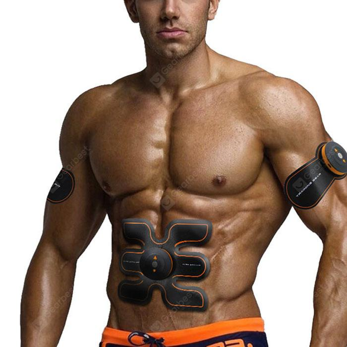 SHANDONG SD - 400 EMS Muscle Training Gear - Black and Orange US Plug