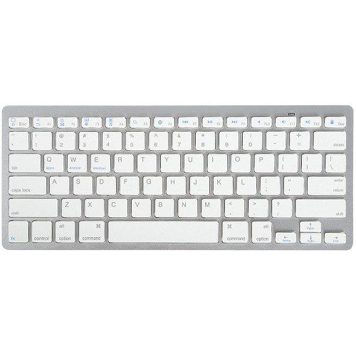 Mini Ultra Slim Aluminum Wireless Bluetooth Keyboard For IOS Android PC BK Gift