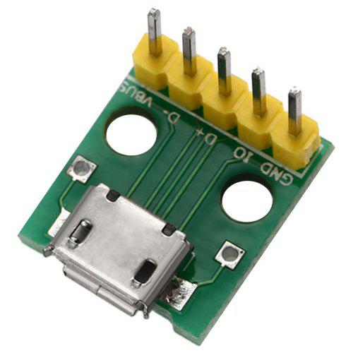 1Pc USB female to 5P screw shield plug terminal adapter connectTE