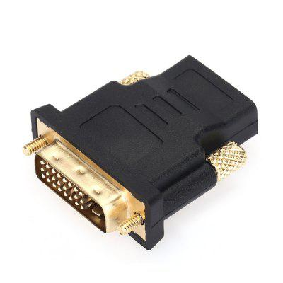 Gold-plated HDMI Female to DVI 24+1 Male Adapter