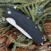 SR631A Liner Lock Folding Knife with G10 Handle - BLACK