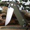 LAND 910 Plus Liner Lock Pocket Folding Camping Knife - ARMY GREEN