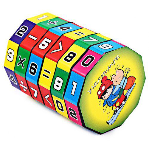 Round Children Colorful Wooden Board Toys Educational Toy Figure Math Learn HS