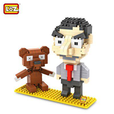LOZ 340 szt. L - 9507 Mr. Bean Building Block Toy for Enhancing Social Cooperation Ability