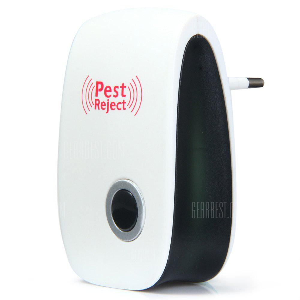 Electronic Pest Repeller Ultrasonic Rejector for Mouse Mosquito - WHITE EU PLUG