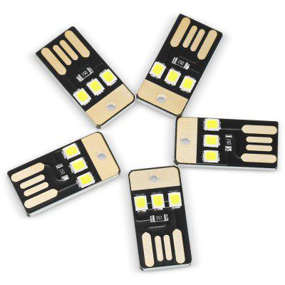 5PCS USB LED Mini Zseblámpa