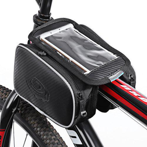575803c9715 Roswheel 12813 1.8L Bicycle Front Top Tube Frame Bag 5.5 Inches Mobile  Phone Pocket + Dual Pouches