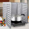 Kitchen Oil Splash Guard Cooking Cover Anti Splatter Shield - SILVER