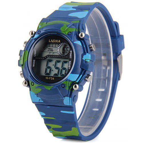 17e37b5e8dd F54 Round Casual Waterproof Cold Light Sport Watch with Snooze Stopwatch  Function - R 14.35 Compras Online