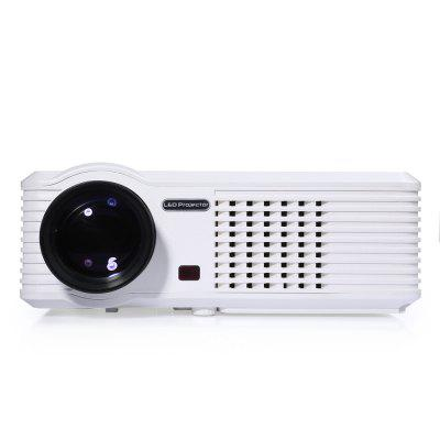 Refurbished PRS200 Multifunctional Home Theater LED Projector 1500 LM 800 x 480 Pixels with Keystone Correction for Desktop Laptop