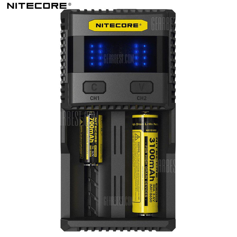 Nitecore Sc2 3a Quick Charge Intelligent Battery Charger 2905 Batre Vapor 2 Slot Non Kabel Free Shipping