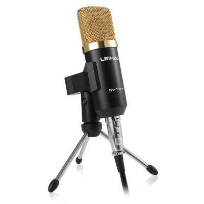 GBTIGER BM - 100FX USB Condenser Sound Recording Microphone with Stand Holder