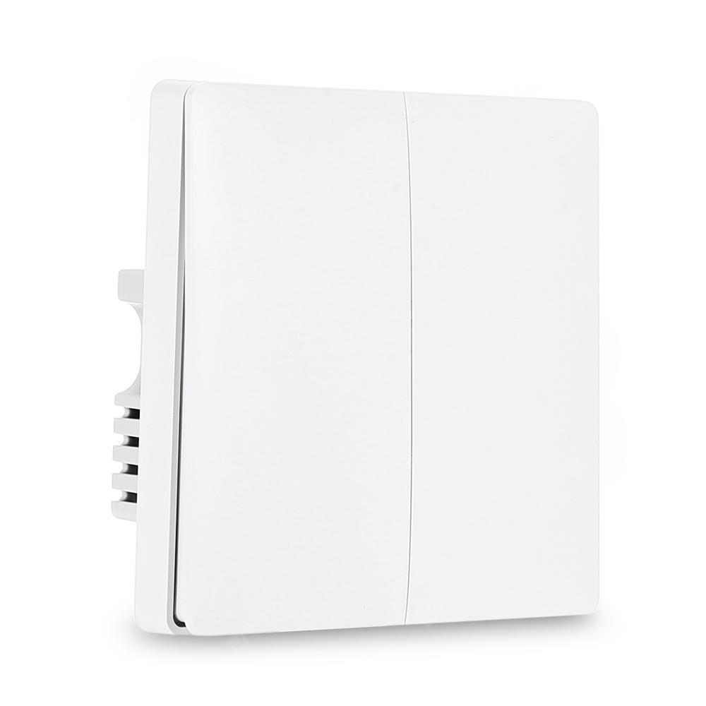Aqara QBKG03LM Wall Switch Double Key ZigBee Version ( Xiaomi Ecosystem Product ) - White Double Key