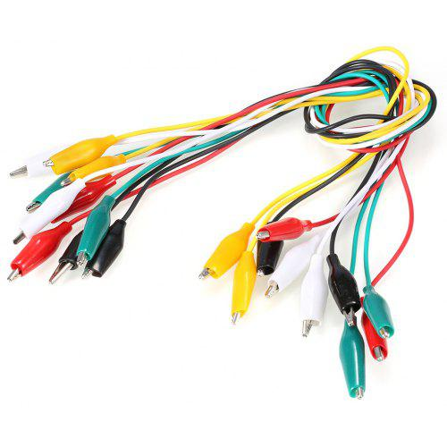 Heart Service Alligator Clips Test Leads Double Ended Insulated Test Cable Double-ended Clips Test Lead for Multimeter 10 Pieces