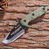 HX OUTDOORS D - 170 Fixed Blade Knife with G10 Sheath - ARMY GREEN