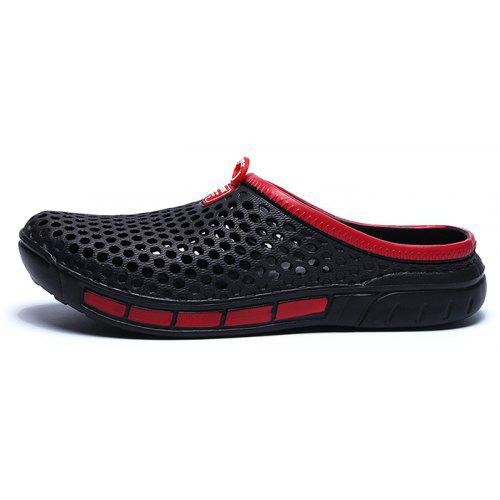 98f1ffc5645f35 Men Hollow Out Breathable PVC Slippers Beach Sandals -  8.55 Free  Shipping
