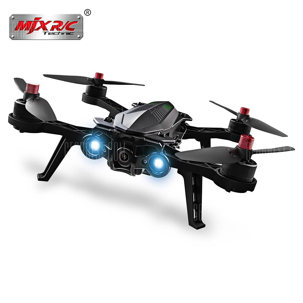 MJX Bugs 6 250mm RC Brushless Racing Quadcopter - RTF - BLACK WITH CAMERA + FPV MONITOR + GLASSES