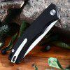 HARNDS CK9168 Pocket Folding Knife with Liner - BLACK