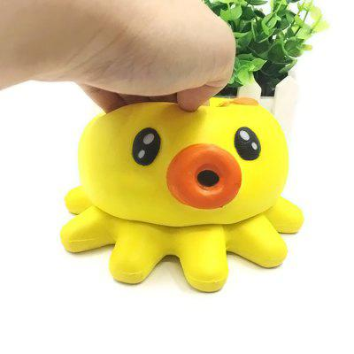 Cute Baby Octopus Soft PU pěna Jumbo Squishy Toy