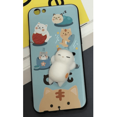 iPhone 6 6S 6 Plus 7 7 plus Cute  3D Cartoon Doll Cat TPU Cover Case
