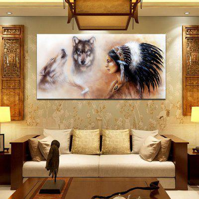 Indian Printed  Canvas Print Unframed Wall Art