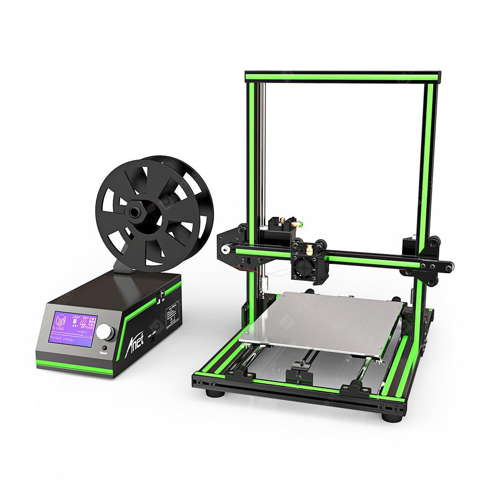 Anet E10 Aluminium Frame Multi-Language 3D-skriver DIY Kit-GREEN EU