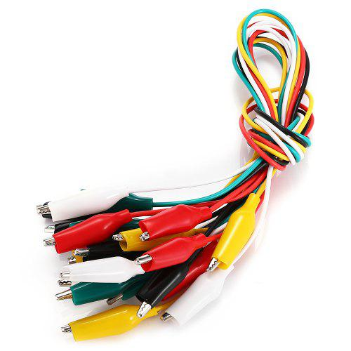 10pcs Double-ended Alligator Test Clip Cable Line