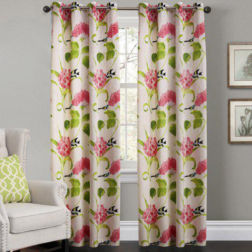 Leaves Window Curtains 52 X 63 Inch