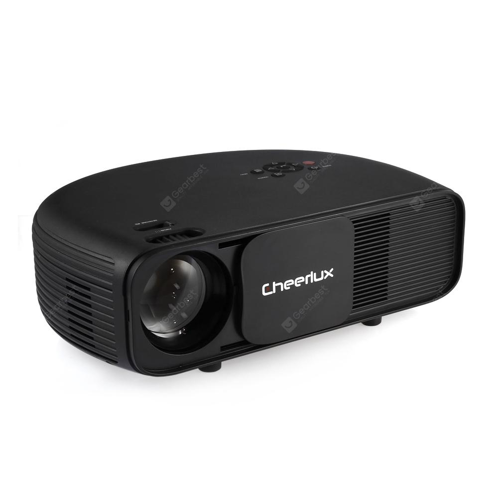 Cheerlux CL760 3000 Lumens Lumens LCD Video Projector - BLACK WITHOUT OS (EU PLUG)