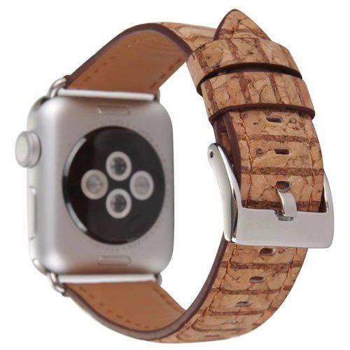 Wood Grain Leather Watchband for Apple Watch 42mm