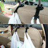 ZIQIAO CZN - 136 Universal Car Vehicle Back Seat Headrest Hanger - BLACK