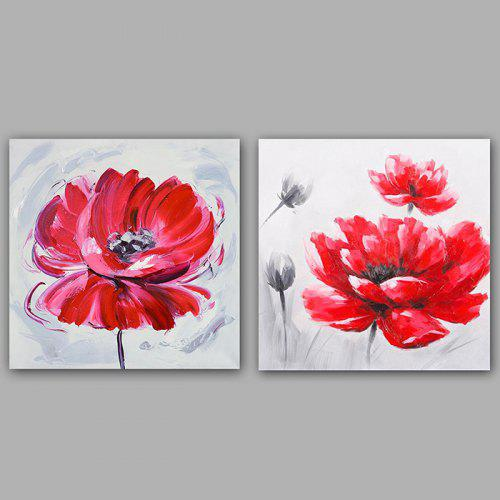 Happy Art Oil Painting Modern Flower Bicycle Canvas Material Decoration