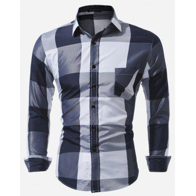 Men Fashionable Classic Long Sleeve Checked Shirt