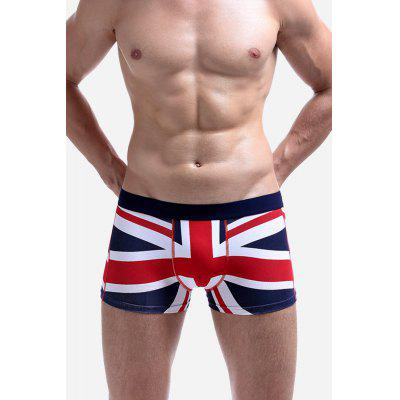 Muž pohodlné sexy UK Flag Cotton Boxer Brief