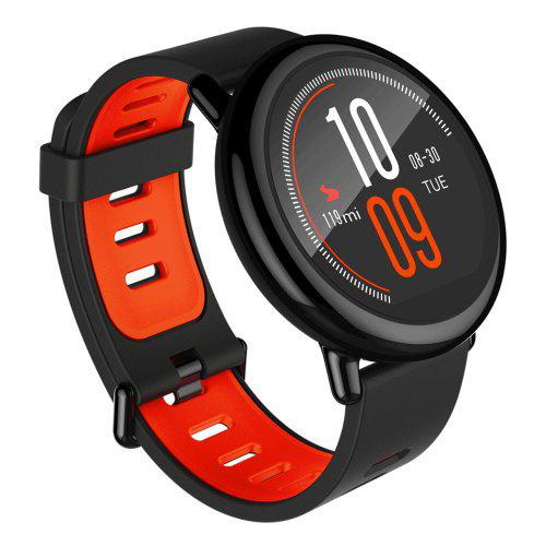 Gearbest Xiaomi AMAZFIT Heart Rate Sports Smartwatch - BLACK INTERNATIONAL VERSION Bluetooth 4.0 Heart Rate Monitor GPS Pedometer Fitness Mode