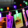 BRELONG LED Photo Clip String Light Battery Powered - COLORFUL