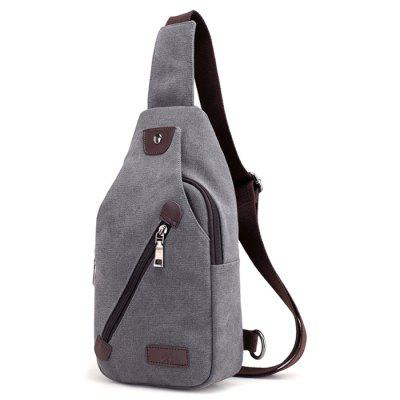 Men Leisure Canvas Chest Bag