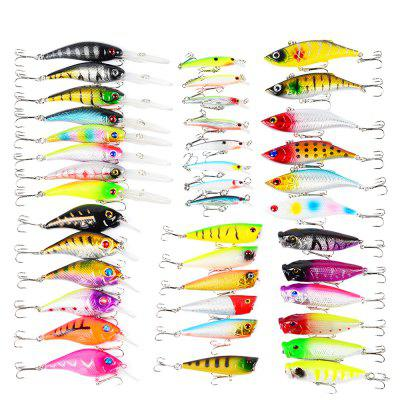 Proberos DWS230 40-piece Set ABS Plastic Fishing Lures