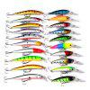 Pro Beros DWS251 ABS Plastic Fishing Lures Minnow Hard Bait 20pcs - COLORMIX