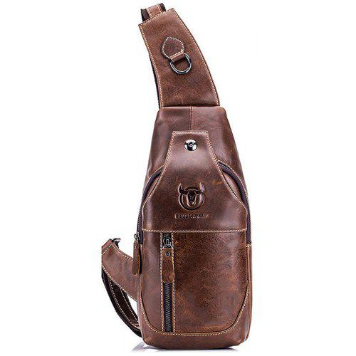 4a0eba74e245 BULLCAPTAIN Men Genuine Leather Shoulder Bag -  24.39 Free Shipping ...