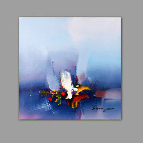 Blue Abstract Oil Painting Modern Canvas Material