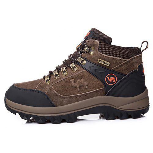 96900d4dfa9 QF CAMEL Male Slip-resistant Hiking Shoes