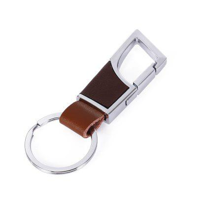 HL584 Simple Style Zinc Alloy + PU Leather Key Chain