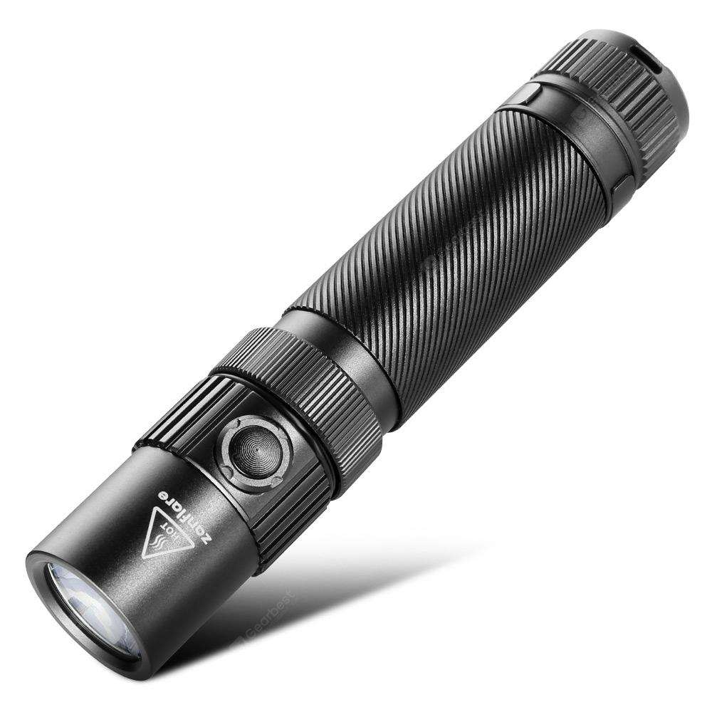 zanflare F1 USB Rechargeable Flashlight - Black 4500-5000K