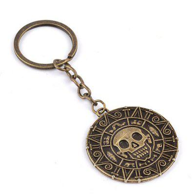 West Style Zinc Alloy Gold Coin Key Ring
