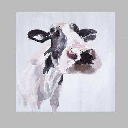 Happy Art Modern Hand Painted Cow Canvas Oil Painting Gearbest